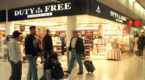 Shoppers in the Duty Free store at Heathrow's Terminal 1 (PA)
