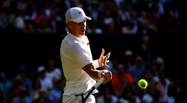 Kyle Edmund was knocked out of Wimbledon (Victoria Jones/PA)