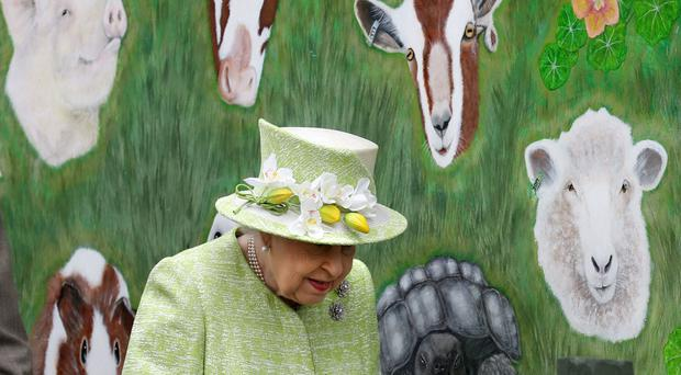 The Queen visited Gorgie City Farm in Edinburgh (Andrew Milligan/PA)