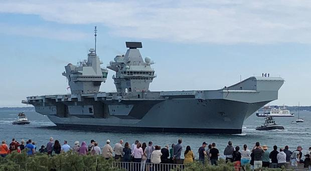 Nick Cooke-Priest had commanded the aircraft carrier HMS Queen Elizabeth (Ashley Law/PA)