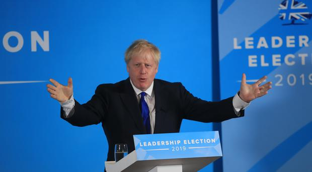 Conservative party leadership contender Boris Johnson during a Tory leadership hustings in Nottingham.