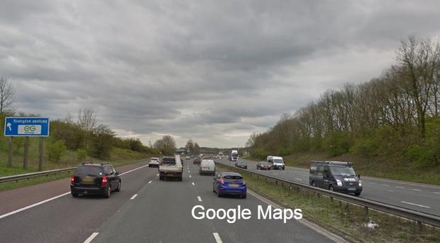The incident happened between junction eight and Bolton West/Rivington services (Google Maps/PA)