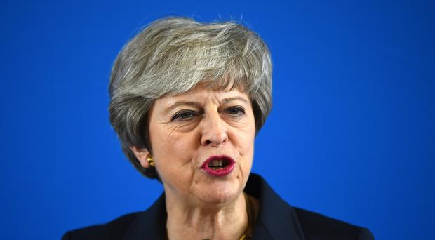Theresa May will make her final military speech before leaving office later this month (Andy Buchanan/PA)