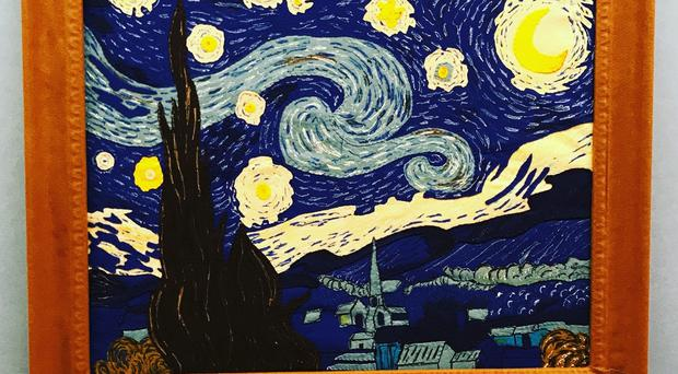 Lucy Sparrow's take on Vincent van Gogh's The Starry Night (JBPR/PA)