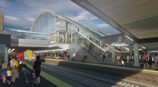 A computer-generated image showing improvements to Gatwick Airport railway station (Gatwick Airport/PA)