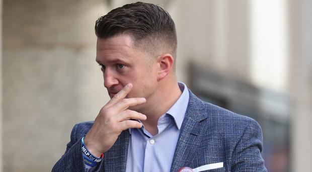 Tommy Robinson arrives at the Old Bailey in London (Yui Mok/PA)
