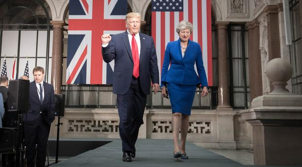 Prime Minister Theresa May and US President Donald Trump during his state visit to the UK (/PA)