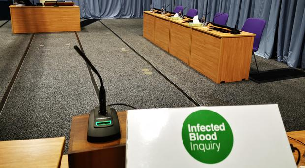 The Infected Blood Inquiry at the Edinburgh International Conference Centre (PA)