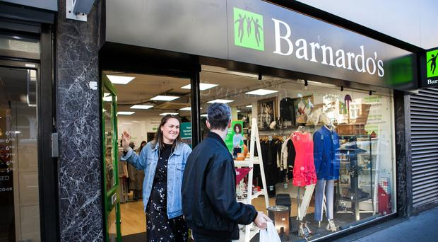 Barnardo's is urging people to look in its shops for an outfit for a special occasion (Barnardo's/PA)