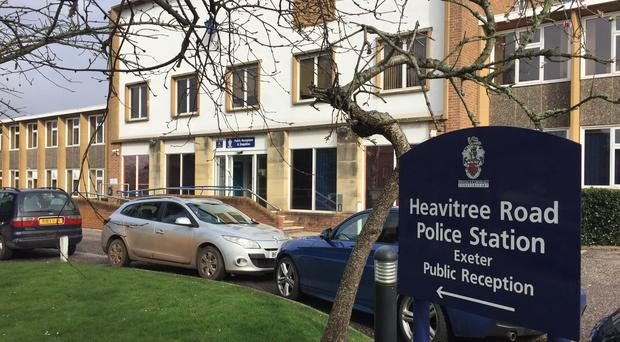 Heavitree Road Police Station where Thomas Orchard was restrained in October 2012 (PA)