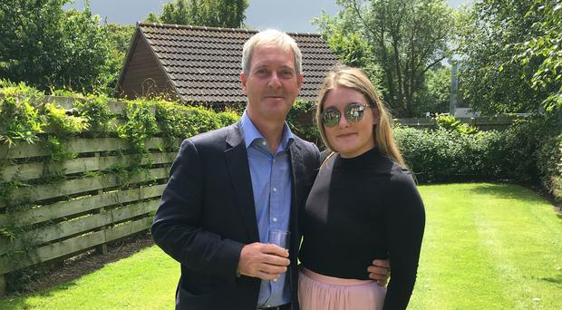 Surrey County Council leader Tim Oliver with his daughter Emily (Family handout/PA)