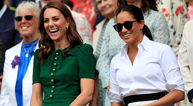 The Duchess of Cambridge and the Duchess of Sussex (Mike Egerton/PA)