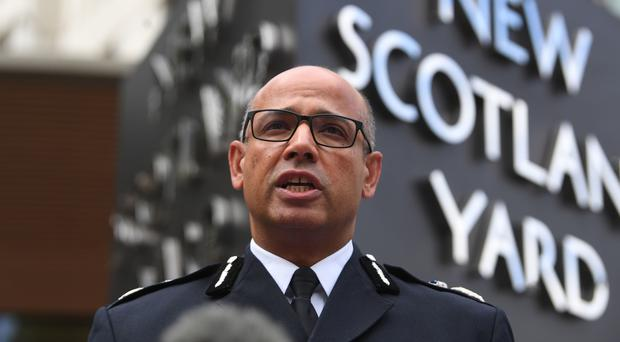Assistant Commissioner Neil Basu said Scotland Yard has opened a criminal investigation into a potential breach of the Official Secrets Act (Victoria Jones/PA)