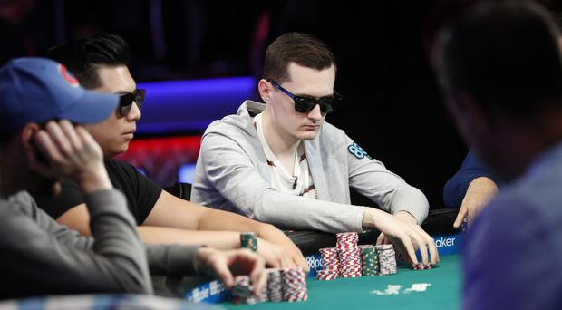 Nick Marchington, right, has made it to the final table in the World Series of Poker (John Locher/AP)