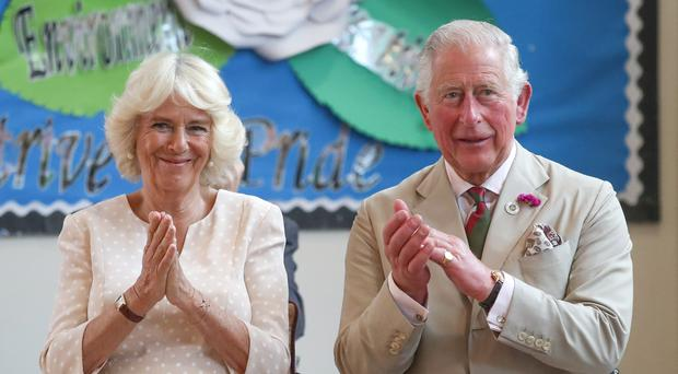 The Prince of Wales and the Duchess of Cornwall during a visit to south Wales (Andrew Matthews/PA)