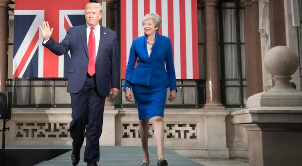 Theresa May and Donald Trump (Stefan Rousseau/PA)