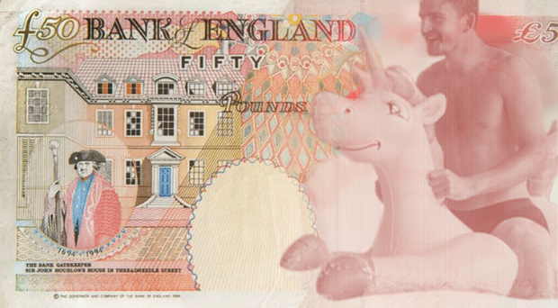 The mocked-up £50 note will now officially never become reality (Jonny Sharples/PA)