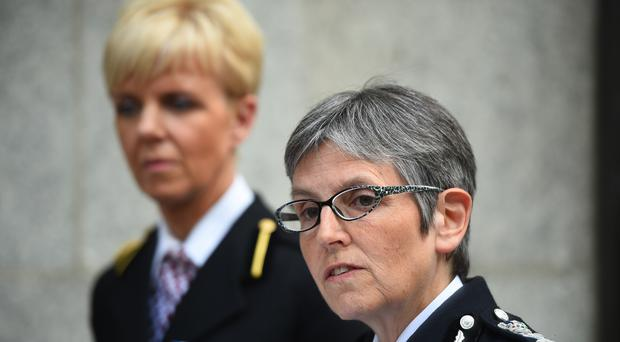 Commander Karen Baxter of City of London Police (left) and Metropolitan Police Commissioner Cressida Dick (Kirsty O'Connor/PA)