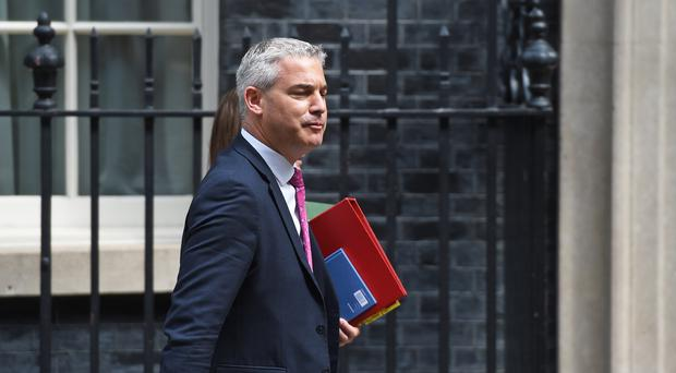 Brexit Secretary Stephen Barclay arrives at 10 Downing Street, London, ahead of Prime Minister's Questions (PA)
