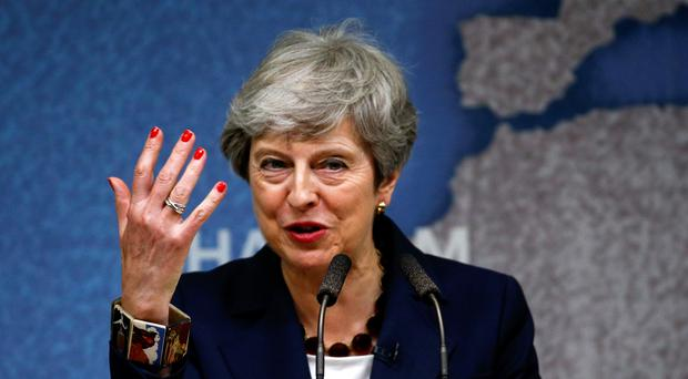 Prime Minister Theresa May making a speech on the state of politics (Henry Nicholls/PA)
