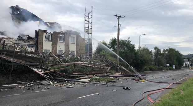 The hotel partially collapsed during the fire (Avon Fire and Rescue Service/PA)