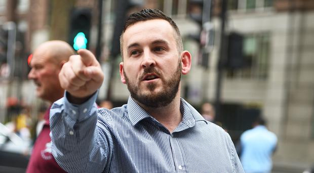 James Goddard leaving Westminster Magistrates Court (Kirsty O'Connor/PA)