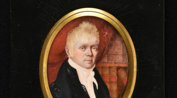 Portrait miniature of James Digweed (Dominic Winter Auctioneers/PA)