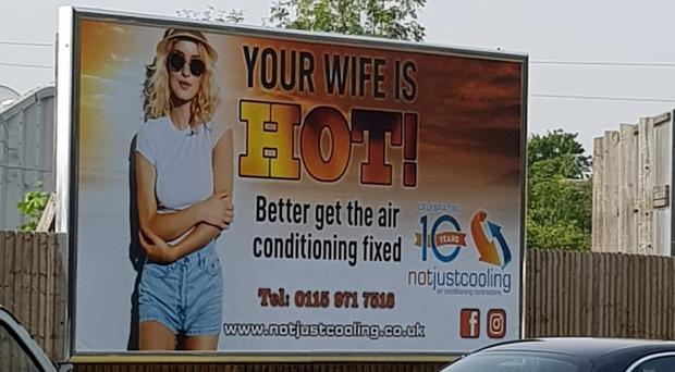 "The company has defended the advert, saying it was ""to make people chuckle"" (Not Just Cooling/PA)"