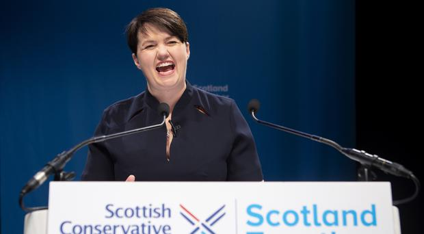 Ruth Davidson said Scots will judge the new prime minister on his actions (Jane Barlow/PA)