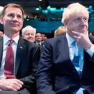 Jeremy Hunt and Boris Johnson before the announcement yesterday