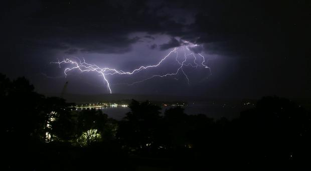 Lightning strikes led to disruption on the railways (Martin Keene/PA)