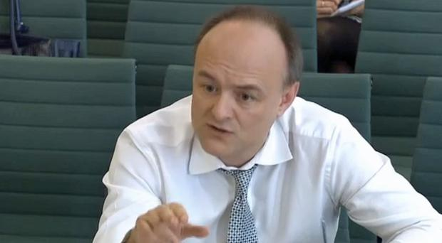 Dominic Cummings, campaign director, Vote Leave, giving evidence to the Treasury Select Committee (House of Commons/PA)