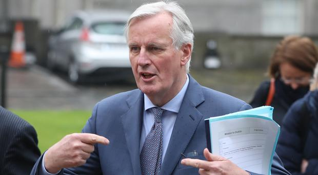 EU chief Brexit negotiator Michel Barnier arrives at Government Buildings in Dublin to hold talks with Taoiseach Leo Varadkar in advance of Wednesday's emergency EU meeting in Brussels (PA)