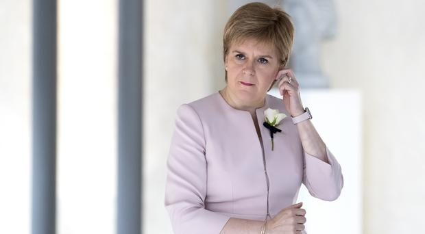 The Scottish First Minister again congratulated Mr Johnson on his appointment but reiterated her case for independence (Jane Barlow/PA)