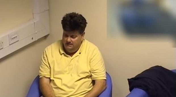 Carl Beech during a police interview (CPS/PA)