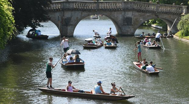 Provisional figures for a potential new record high temperature have been received from Cambridge (Joe Giddens/PA)