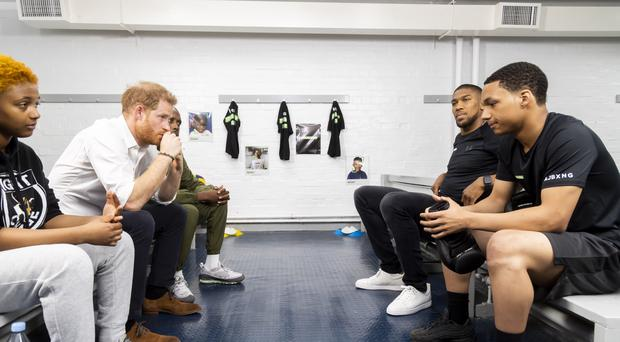 Harry and Anthony Joshua (Made By Sport/PA)