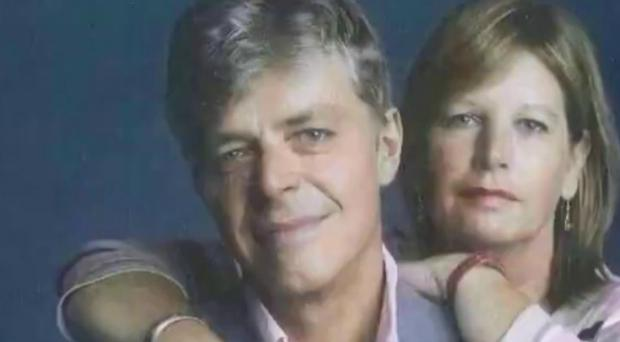 Haydn Lewis with wife Gaynor (Infected Blood Inquiry/PA)