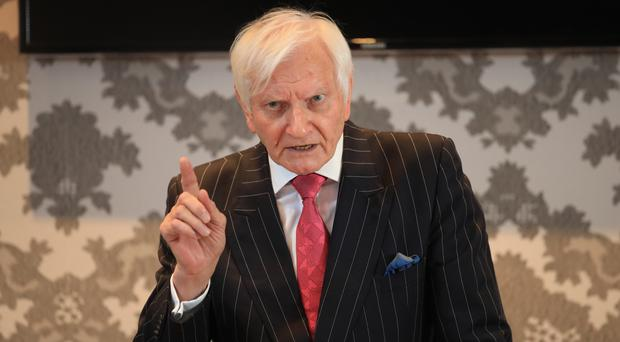 Former Conservative MP Harvey Proctor speaks during a press conference at the Malmaison hotel in Newcastle (Danny Lawson/PA)