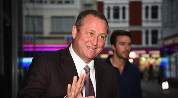 Sports Direct CEO Mike Ashley as the company revealed it is being pursued by authorities in Belgium over a 674 million euro tax bill (Kirsty O'Connor/PA)