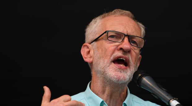 Labour leader Jeremy Corbyn has said he is ready to face Boris Johnson in a general election (Victoria Jones/PA)