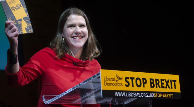 Lib Dem leader Jo Swinson said she would recognise the result of a future vote (David Mirzoeff/PA)