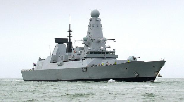 HMS Duncan, a Type 45 Destroyer, which will relieve HMS Montrose in the Gulf region (LA(PHOT) Ben Sutton/MoD/PA)