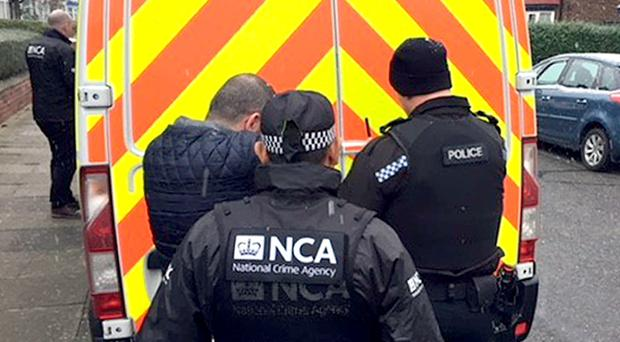 The National Crime Agency served the order on Tuesday. (National Crime Agency/PA)