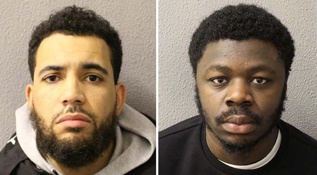 Rapper Asfa Allen, aka Asco (left), and Akwasi Kwateng have been found guilty at Blackfriars Crown Court of supplying heroin through 'county lines' drug routes (Met Police/PA)