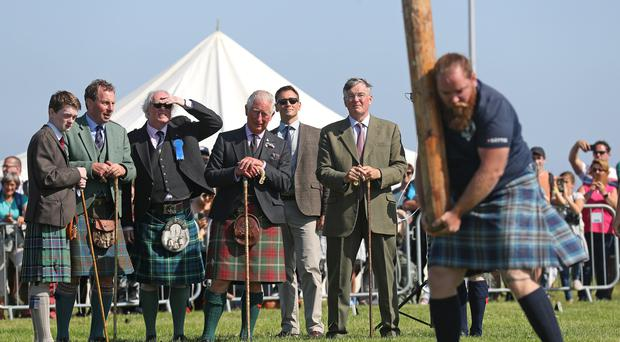 The Prince of Wales at the Mey Highland and Cultural Games in Caithness (Andrew Milligan/PA)