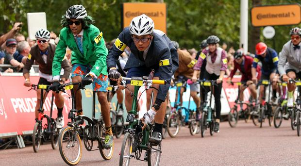 Hundreds of cyclists took part (Paul Harding/PA)
