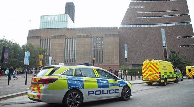 Emergency crews were called to the Tate Modern art gallery (Yui Mok/PA)