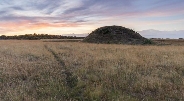 The burial mounds at Sutton Hoo in Suffolk (Justin Minns/National Trust/PA)