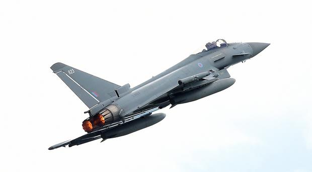 The RAF Typhoon (Kirsty O'Connor/PA)